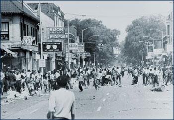 Riot near Nancy's clinic